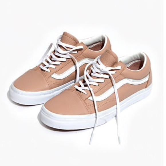 9733823621b1ce Vans x Madewell Nude leather old skool shoes 9.5. M 5b4b4b33819e908dd7db4e9b